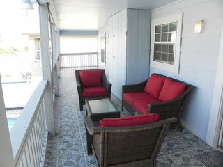 South Padre Island condo photo - Balcony overseeing the pool area