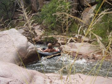 Tubing on East Verde River approx 2 miles from cabin.