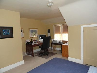 Corner office in the master bedroom
