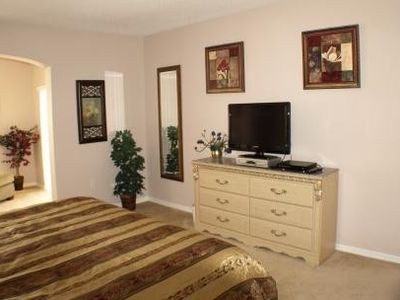 Master Bedroom showing TV set