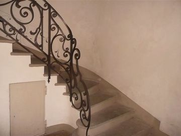 The beautiuful ornate stone staircase