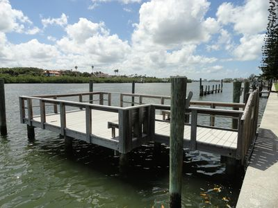 Indian Rocks Beach condo rental - Dock for Fishing