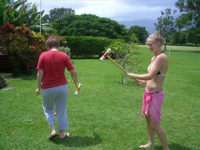Play croquet on the back lawn