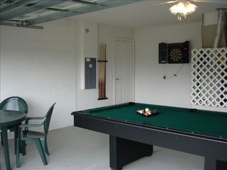 Indian Creek house photo - Games Room has a pool table, electronic dart game
