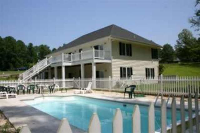 Lg lakefront home w private swimming pool vrbo Lake gaston rentals with swimming pool