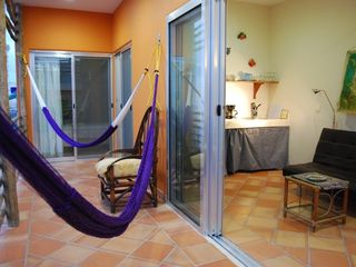 Isla Mujeres apartment photo - Terrace overlooking one of the most charming streets in the downtown area.