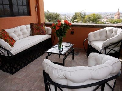 Second floor sala with vista view of downtown San Miguel
