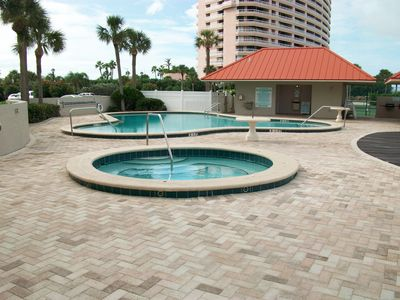 Jacuzzi, pool, restrooms