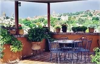Roof Terrace with view of San Miguel center