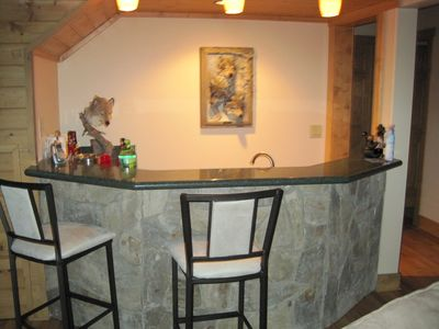 Wet bar downstairs. We have one in the loft too!