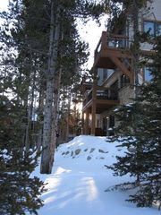 Breckenridge Peak 9 townhome photo - Photo taken on Ski Trail - Ski to the door!