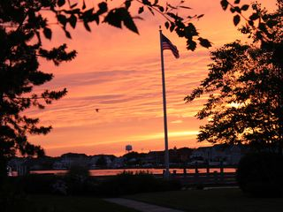 Bay Head house photo - Sunset at the end of our block overlooking Barnegat Bay