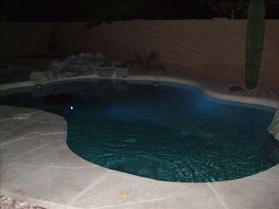 Night Setting Pool Side