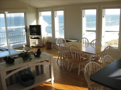 Sunny and Open Great Room/ Kitchen with Stunning Ocean Views