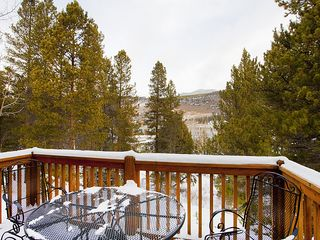 Keystone condo photo - Back Patio overlooking the River!