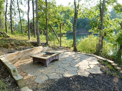 Patio and firepit for campfires; fishhook game as well