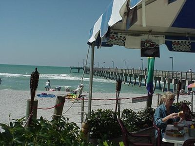 View of the pier from Sharky's