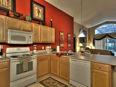 The fully equipped kitchen offers all of the conveniences of home