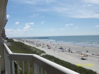 Cherry Grove Beach condo photo - Looking E/SE from the balcony