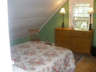 Dennis Village cottage photo - One of two cozy bedrooms on the second floor with air-conditioning.