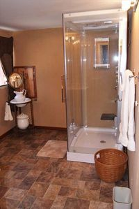 Kansas house rental - sauna steam shower and the jacuzzi tub