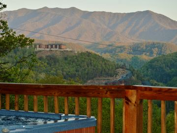 Gatlinburg cabin rental - Mt. LeConte view from deck at 'Take Me Away' in Gatlinburg, TN