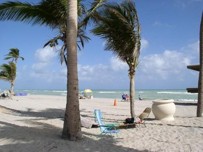 Beautiful Award-winning Hollywood Beach under Florida's blue skies