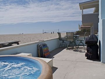 Oxnard house rental - Beach Front spa, warm shower, beach chairs for the perfect vacation!