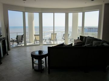 180 Degree View of the Gulf from the Living Room