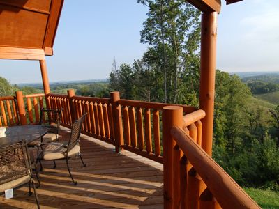 Great views with your morning coffee. Nothing like fresh Mountain Air.