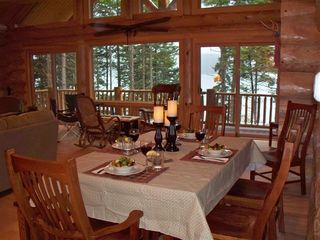 Gouldsboro cabin photo - Dine with Jordan Island, Mt. Desert Island, and Stave Island as your backdrop...