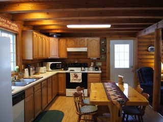 Wisconsin Dells cabin photo - kitchen / custom made table
