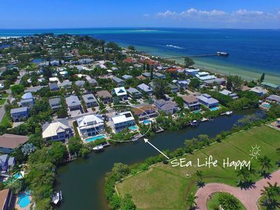 Sea Life Happy - Htd Pool/Spa / Dock / Waterfront / Steps to Beaches - Pine Ave
