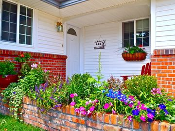 Colorado Springs house rental - Cheerful flowers welcome your arrival.