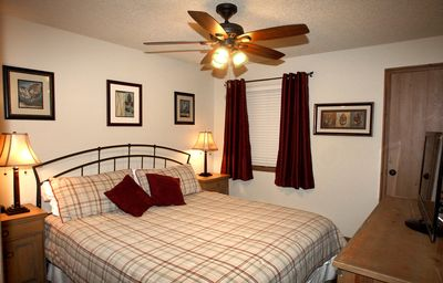 "Master bedroom has a very comfortable King bed, 32"" TV and DVD player."