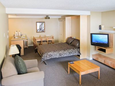 Interior of a Studio Unit at the Panorama Vacation Retreat at Horsethief Lodge