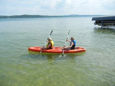 Two-person kayak for our guests.