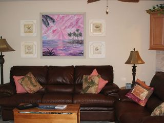 Hutchinson Island apartment photo - Leather queen sofa sleeper and double recliner