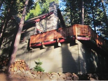 Pinecrest cabin rental - PINECREST AREA CABIN in summer. HUGE DECK! 2 hours to YOSEMITE in the Sierras
