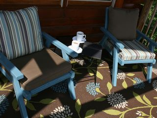 Pigeon Forge cabin photo - Have morning coffee on these comfortable deck chairs while you take in the view.