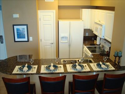 Fully-Equipped Kitchen with Seating for Eight