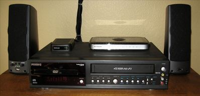DVD/VCR in every room, even a connection for your mp3 player!