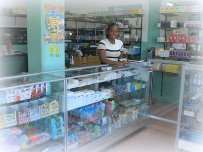 Evergreen pharmacy, with lady owner Catherine..