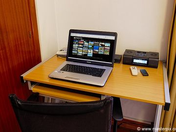 Desk to work with Internet or you can work anywhere in the apartment with Wi-FI @