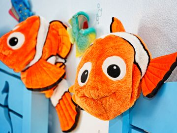 Indian Creek villa rental - The little ones will love Nemo watching over them in bed!