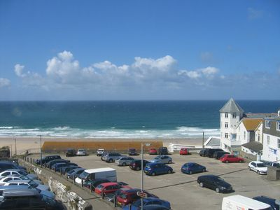 St Ives apartment rental - Watch the surf, view from Balcony/lounge & bed 1