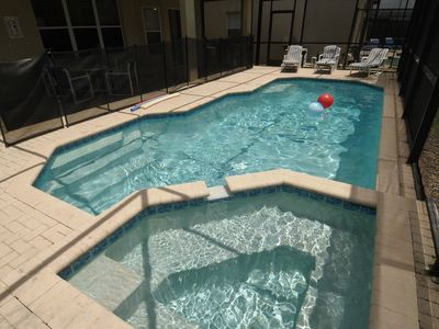 Windsor Hills villa rental - Private Large Swimming Pool & Whirlpool/Spa. Crystal Clear Water.