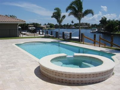 Marble Deck with Heated Pool/Jacuzzi and Boat Dock
