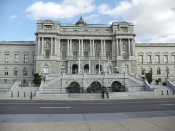 Library of Congress, on left at intersection of 2nd St & East Capitol.