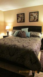 Chandler condo rental - Master bedroom--king bed and private bathroom